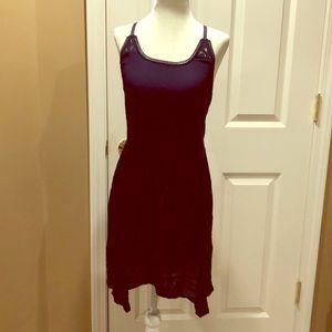 NWT navy blue asymmetrical racerback dress